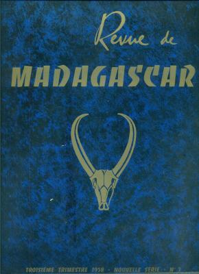 Revue de madagascar 1958