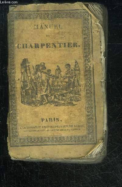 Roret couverture du charpentier